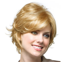 8 inches Human Hair Full Lace Wig Wavy Strawberry Blonde