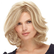 14 inches Human Hair Full Lace Wig Wavy White Blonde