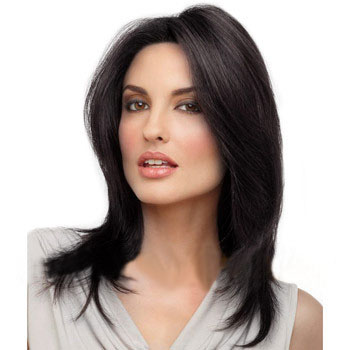 14 inches Human Hair Full Lace Wig Straight Natural Black b1159cf77