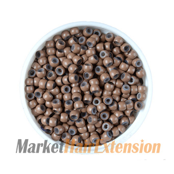 500pcs Nano Beads Light Brown With Silicone for Hair Extensions