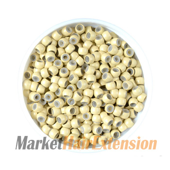 500pcs Blonde Nano Rings With Silicone for Hair Extensions