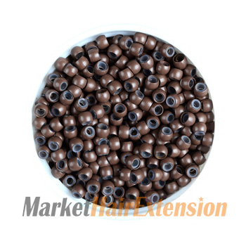 500pcs Nano Rings Brown With Silicone for Hair Extensions