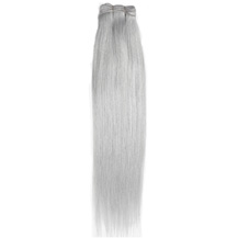 "20"" Silver Grey Hair Extensions Gray Hair Weaves"