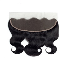8 inches 13*4 Lace Frontal Closure #1B Natural Black Human Hair Extensions Body Wave