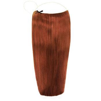 18 inches 50g Human Hair Secret Extensions Dark Auburn (#33)