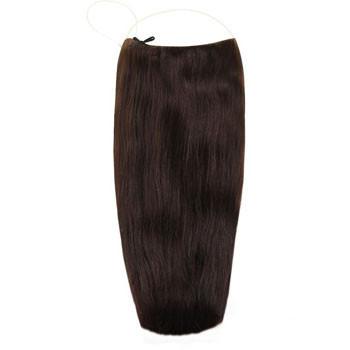18 inches 50g Human Hair Secret Extensions Dark Brown (#2)