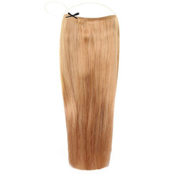 18 inches 50g Human Hair Secret Hair Extensions Strawberry Blonde (#27)