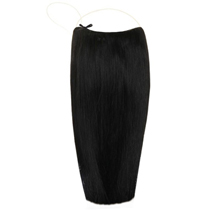 18 inches Human Hair Secret Extensions Natural Black (#1B)