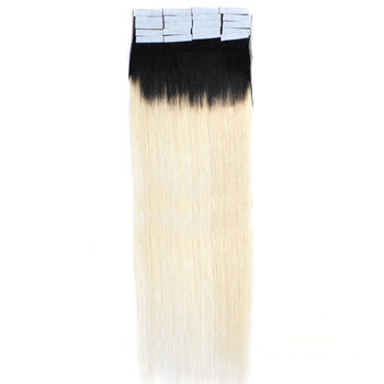 16 Inches #1B/613 Ombre Tape In Human Hair Extensions