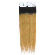 16 Inches #1B/27 Ombre Tape In Human Hair Extensions
