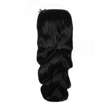 "18"" 50g Human Hair Secret Extensions Wavy Natural Black (#1B)"