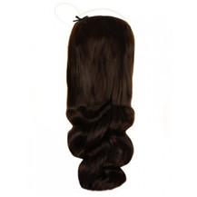 "18"" 50g Human Hair Secret Extensions Wavy Dark Brown (#2)"