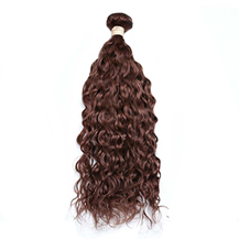 10 inches Weft #33 Dark Auburn Water Wave 1PCS