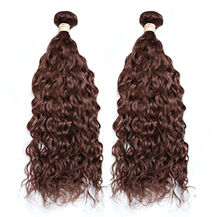 2Pcs/lot 10 inches Weft #33 Dark Auburn Water Wave 2PCS