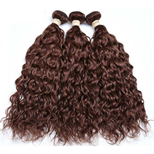 3PCS/lot 10 inches Weft #33 Dark Auburn Water Wave